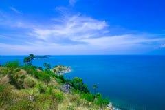 Île Thaïlande de phuket de saisons d'été de point de vue de beauté Images stock