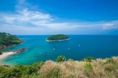 Île Thaïlande de phuket de saisons d'été de point de vue de sable de plage de beauté Image stock