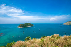 Île Thaïlande de phuket de saisons d'été de point de vue de sable de plage de beauté Image libre de droits