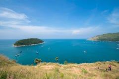 Île Thaïlande de phuket de saisons d'été de point de vue de sable de plage de beauté Images libres de droits