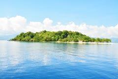 Île tropicale avec le fond blanc Photos stock