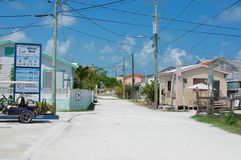 Île tropicale de matoir de Caye un jour ensoleillé, Belize photo stock
