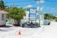Île tropicale de matoir de Caye un jour ensoleillé, Belize photographie stock