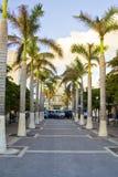 Île tropicale de rue Maarten image stock