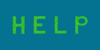 Île tropicale des textes d'aide Photos libres de droits