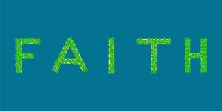 Île tropicale des textes de foi Photo stock