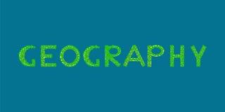 Île tropicale des textes de géographie Images stock