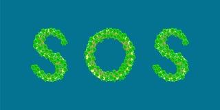 Île tropicale des textes de SOS Photo libre de droits