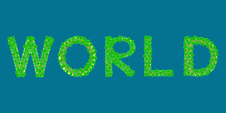 Île tropicale des textes du monde Photos stock