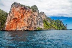 Île tropicale exotique sous le ciel bleu Image libre de droits