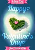 Île tropicale heureuse de jour de valentines Images stock