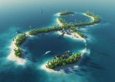 Île tropicale sous forme de signe d'infini Images libres de droits