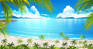 Île tropicale Vecteur Images libres de droits