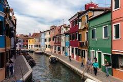 Île vénitienne de Burano Photo libre de droits