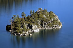 Île verte de Fannette de compartiment de Lake Tahoe Photos libres de droits