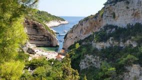 Île Vis Croatia Photos libres de droits