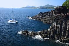 Île volcanique de Jeju image libre de droits