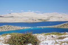 Îles 7 de Kornati Photographie stock