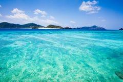 îles abandonnées l'Okinawa tropical image libre de droits