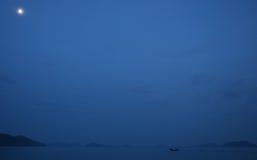Îles bleues de bateau Photographie stock