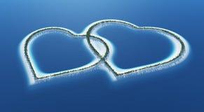 Îles d'amour Photos libres de droits
