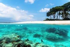 Îles d'Andaman et de Nicobar Le concept de naviguer au schnorchel et de plonger Images stock