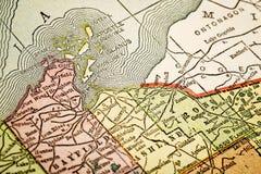 Îles d'apôtre sur la carte de vintage Images libres de droits