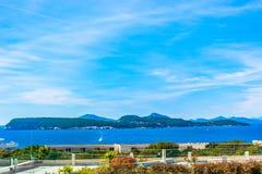 Îles d'Elaphiti en Croatie, l'Adriatique photos libres de droits