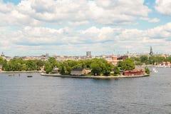 Îles dans l'archipel de Stockholm Image stock