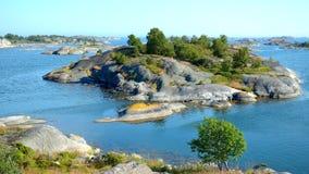 Îles dans l'archipel de Stockholm Image libre de droits
