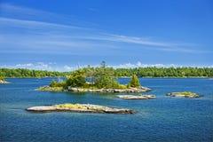 Îles dans la baie géorgienne image libre de droits