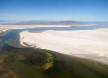 Îles dans le désert Photos libres de droits