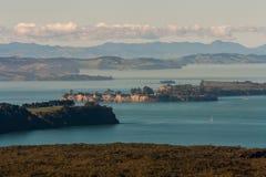 Îles dans le Golfe de Hauraki Photo stock