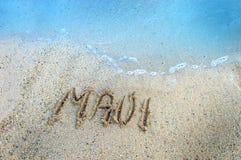 Îles dans le sable Maui Photos libres de droits