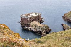 Îles de Berlengas, Portugal - 21 mai 2018 : Forte de Sao Joao Baptista, images stock