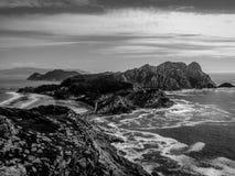 Îles de Cies, Espagne Images libres de droits