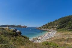 Îles de Cies de plage de Senora de Nosa image stock
