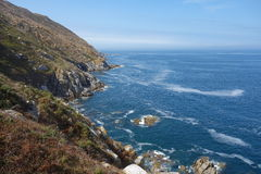 Îles de Cies, Vigo, Espagne Image stock