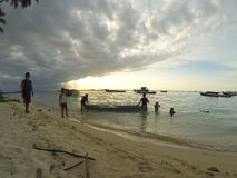 Îles de Derawan d'enfants Photo libre de droits