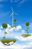 Îles de flottement, concept d'écologie Image libre de droits