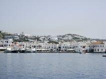Îles de Grec de Mykonos Images libres de droits