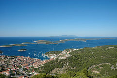 Îles de Hvar et d'enfer Photo libre de droits