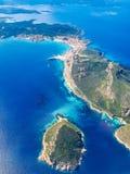 Îles de la Sardaigne d'en haut Images libres de droits