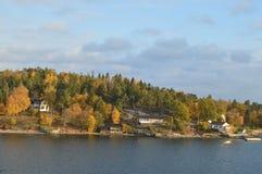 Îles de la Suède en mer baltique Images libres de droits