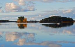 Îles de lac Image libre de droits