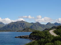 Îles de Lofoten, Norvège La mer de Norvège Image stock