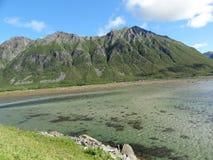 Îles de Lofoten, Norvège La mer de Norvège Images stock