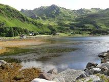 Îles de Lofoten, Norvège La mer de Norvège Photographie stock