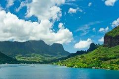 Îles de Moorea, la baie du cuisinier, Polynésie française Photo libre de droits
