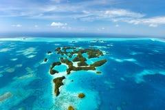 Îles de Palaos d'en haut Photo stock
